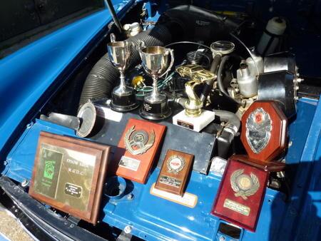 Austin Healey Sprite - 1971 Engine and Awards