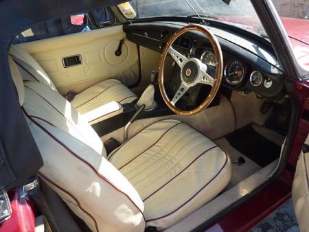 MGB roadster 1973 Interior