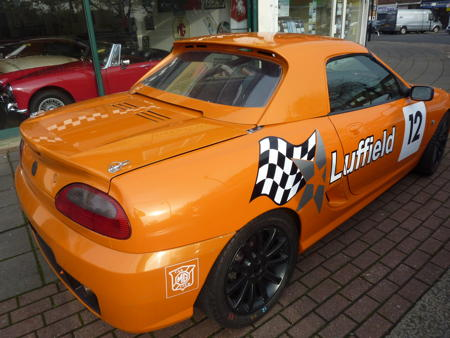 MG TF Race car back