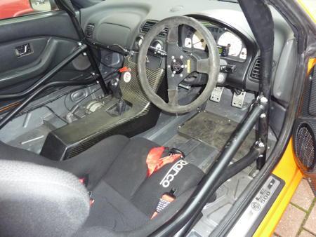 MG TF Race car interior