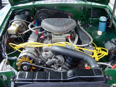 MG V8 Roadster 1977 engine