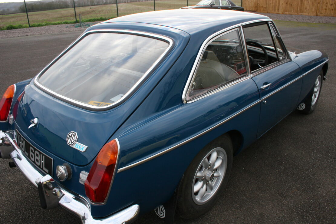 Mgb Gt 1972 Teal Blue Former Glory