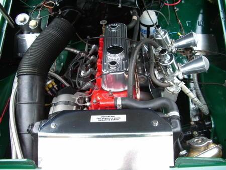 Austin Healey Sprite,1965,HERITAGE SHELL Engine