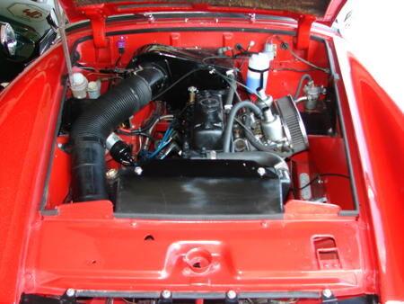 MIDGET, Round wheel arch, 1973 Engine