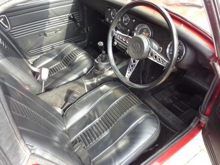 MG Midget,1971 Interior